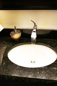 guestbathroomgranitefarmsink