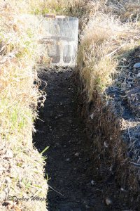 Irrigation ditch is dry