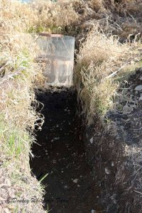 Dry irrigation ditch waiting for them to turn on the water in Sequim, WA