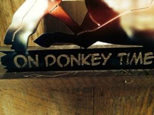 large on donkey time art