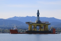 Oil rig Port Angeles, WA from AK going to Seattle for repair