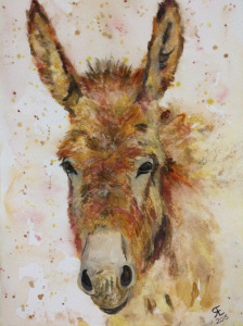 Watercolour donkey